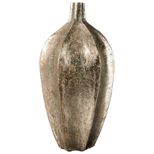 Signature Design by Ashley Accents Derion Antique Gold Finish Vase