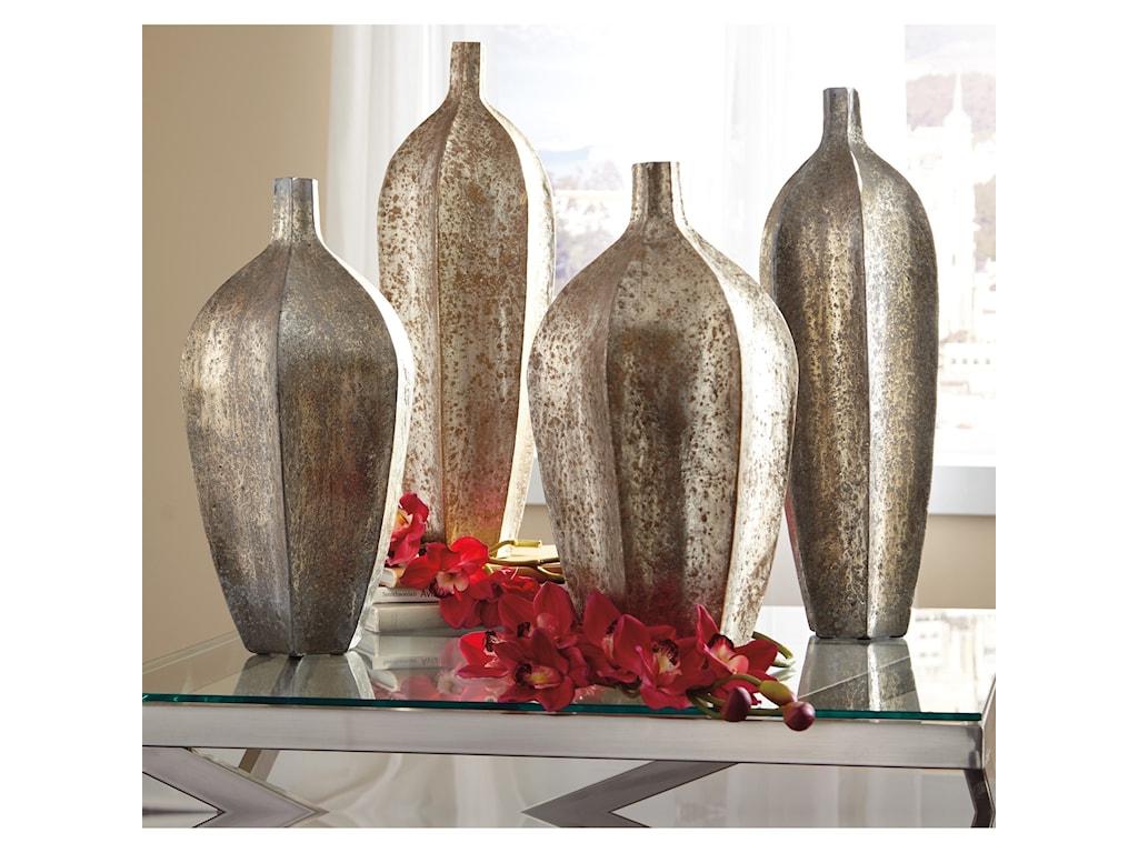 Trendz AccentsDerion Antique Silver Finish Vase