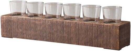 Signature Design by Ashley Accents Cassandra Brown Candle Holder