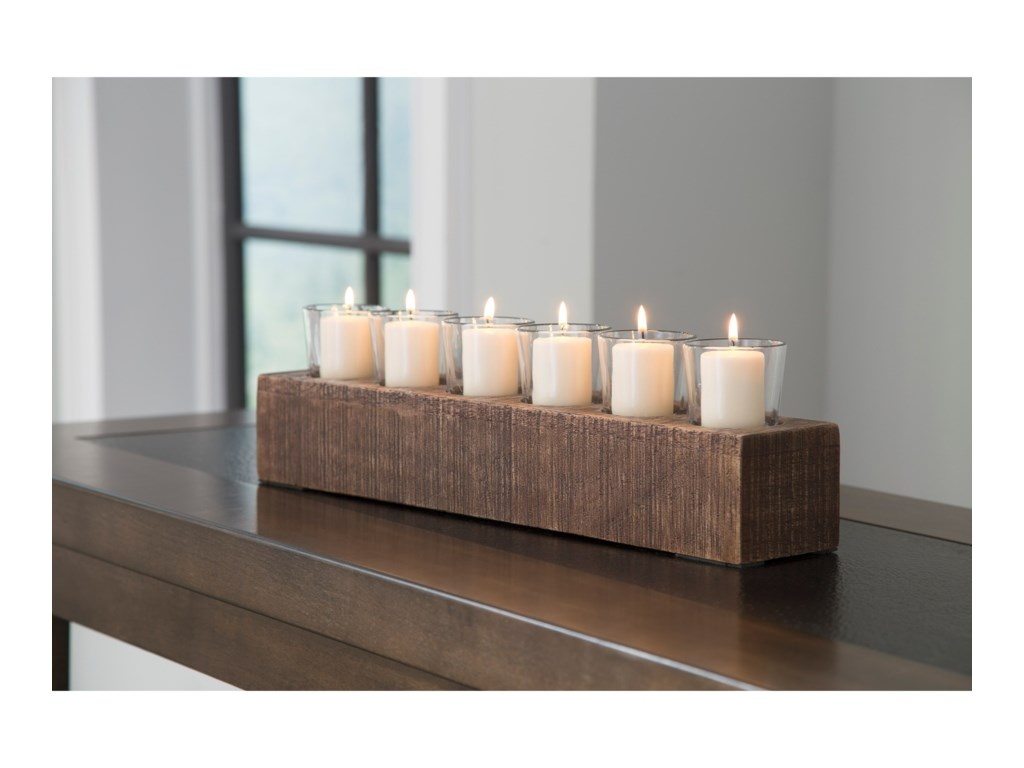 Signature Design by Ashley AccentsCassandra Brown Candle Holder