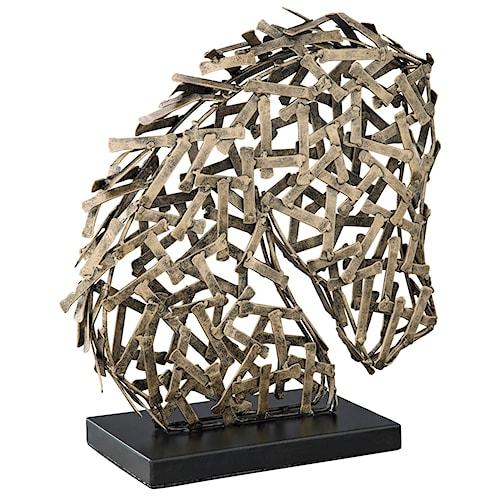 Signature Design by Ashley Accents Nahla Antique Gold Finish Sculpture