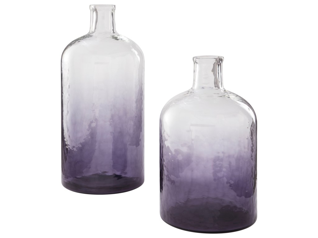 Ashley Signature Design AccentsMaleah Purple Glass Vase Set