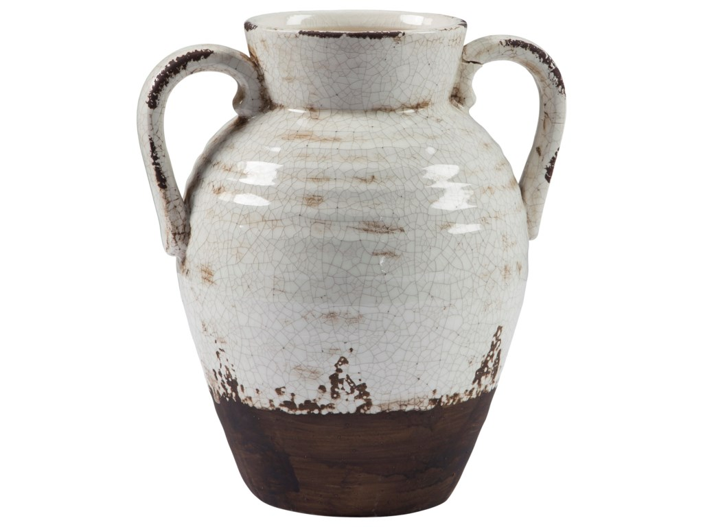 Trendz AccentsDion Distressed White Vase