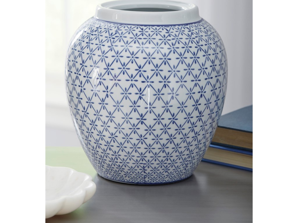 Signature Design by Ashley AccentsDionyhsius Blue/White Vase