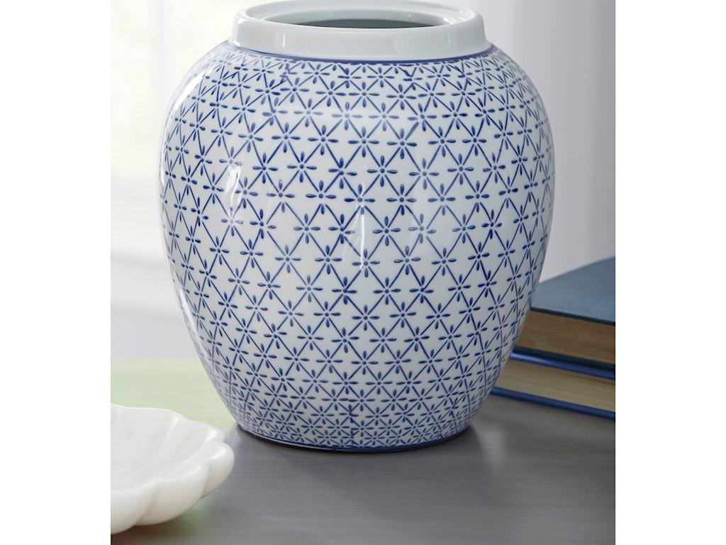 Signature Design by Ashley AccentsDionyhsius Blue/White Vase