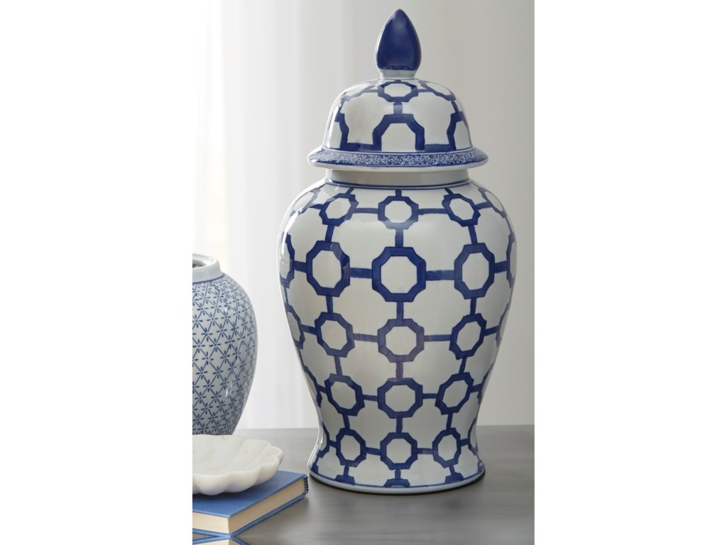 Signature Design by Ashley AccentsDionyhsius Blue/White Jar