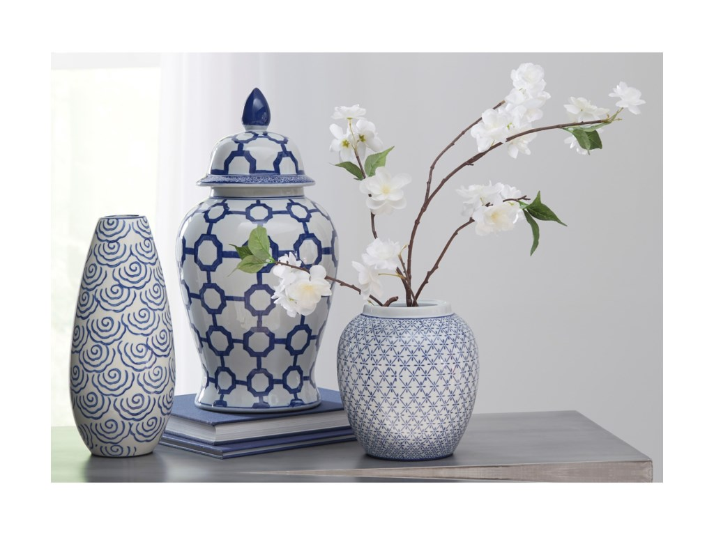 Ashley (Signature Design) AccentsDionyhsius Blue/White Jar