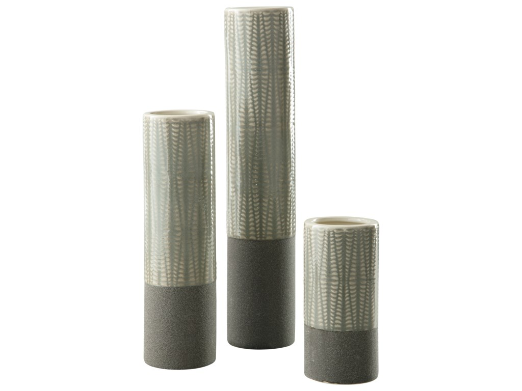 Ashley (Signature Design) AccentsElwood Gray Vase Set