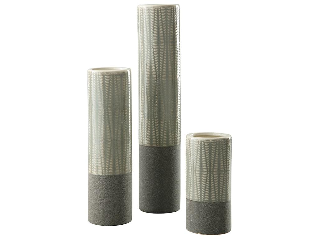 Ashley (Signature Design) AccentsElwood Gray Vase Set