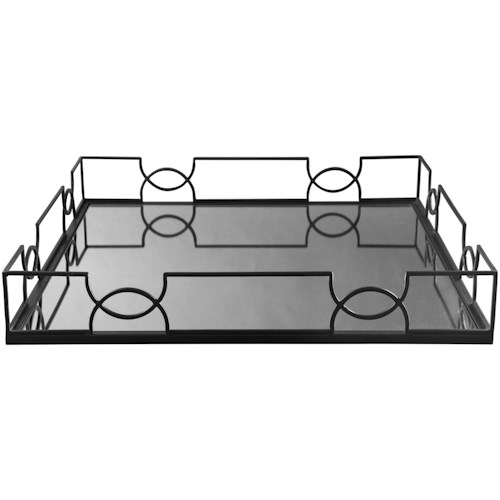 Signature Design by Ashley Accents Dionicio Black/Mirror Tray