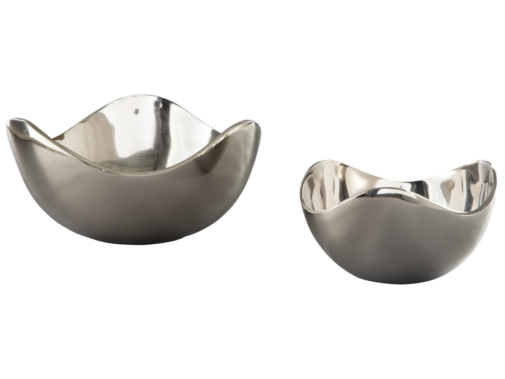 Ashley (Signature Design) AccentsDonato Chrome Finish Bowl Set