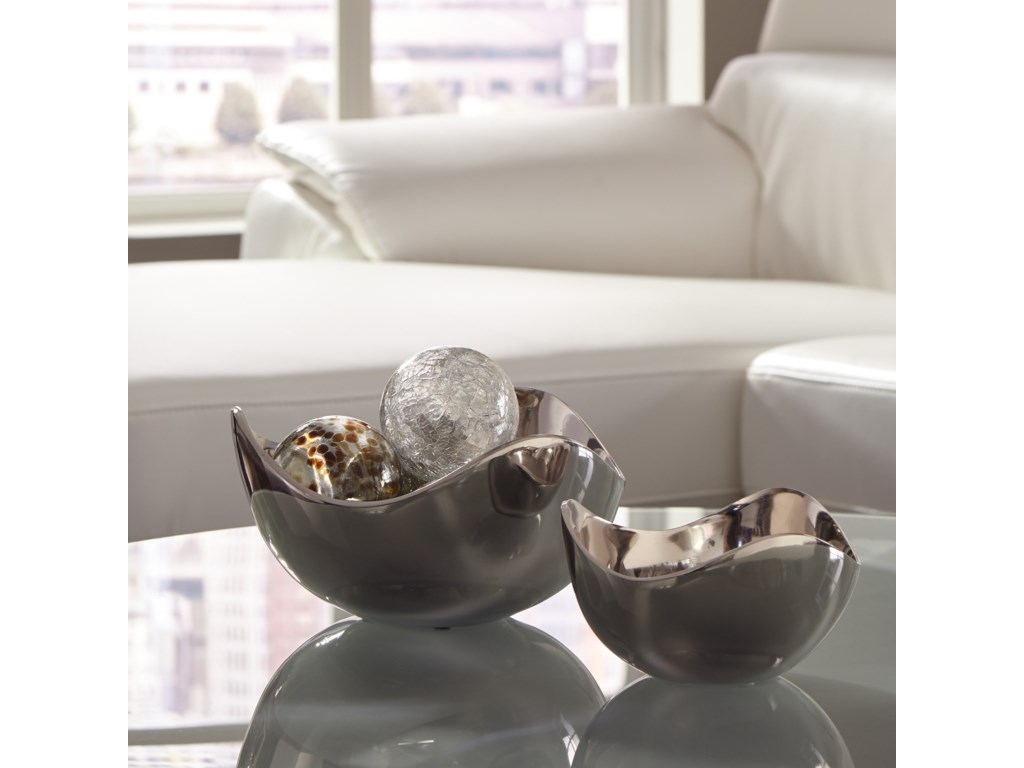 StyleLine AccentsDonato Chrome Finish Bowl Set