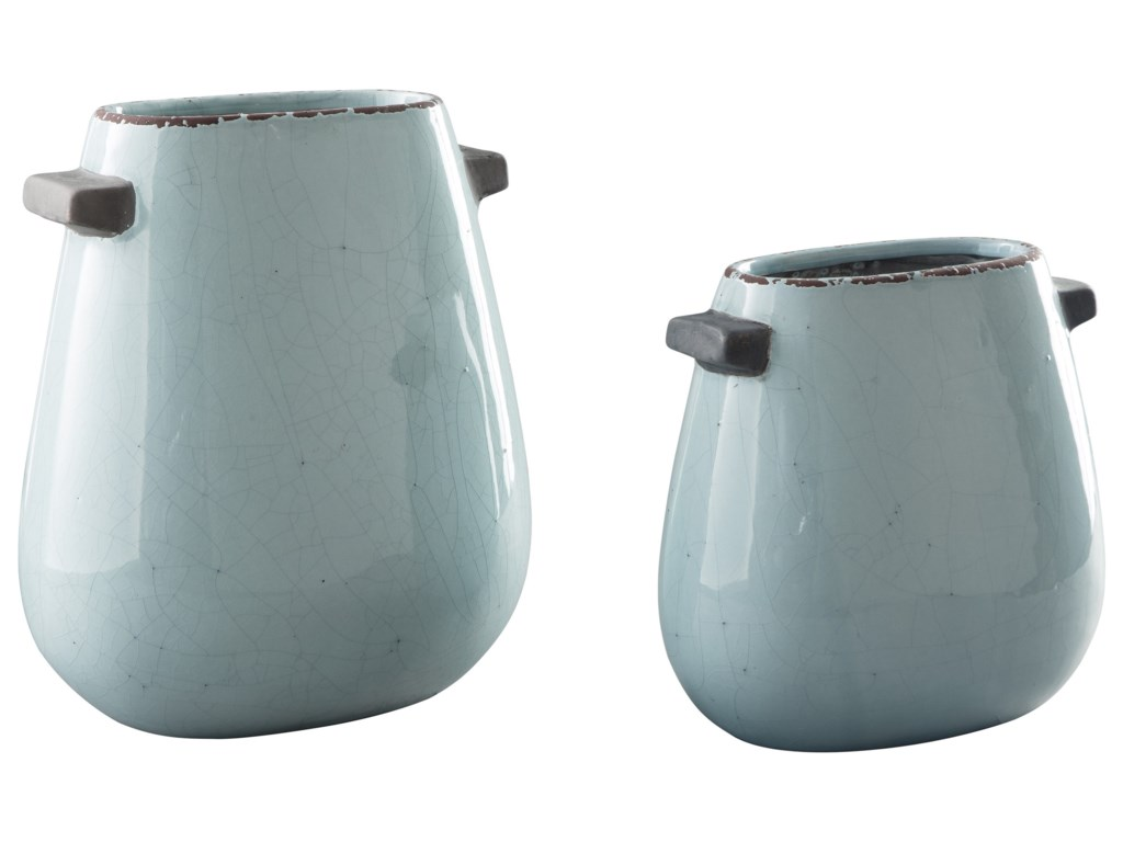Ashley (Signature Design) AccentsDiah Blue Vase Set