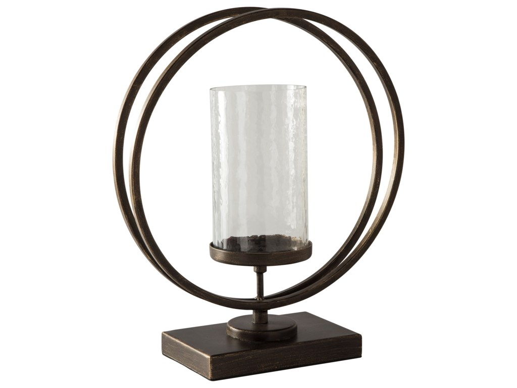 Signature Design by Ashley AccentsJalal Antique Gold Finish Candle Holder