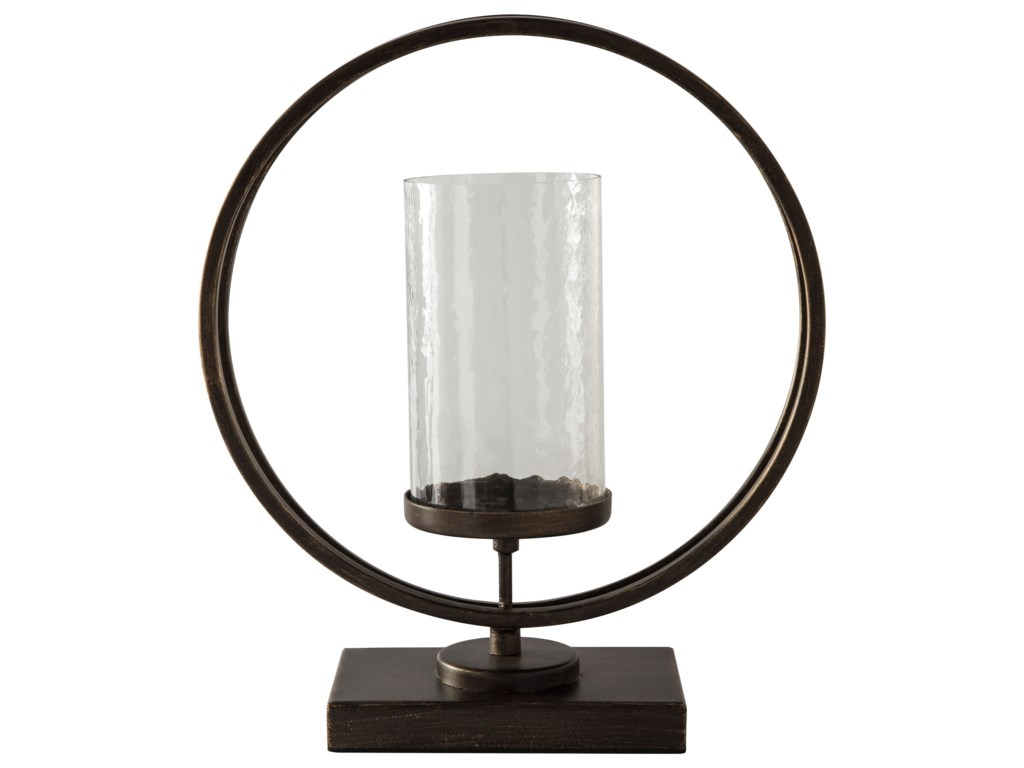 Signature Design AccentsJalal Antique Gold Finish Candle Holder