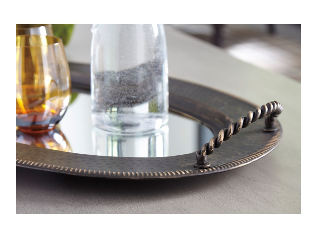 Signature Design by Ashley AccentsMilena Antique Gold Finish Tray