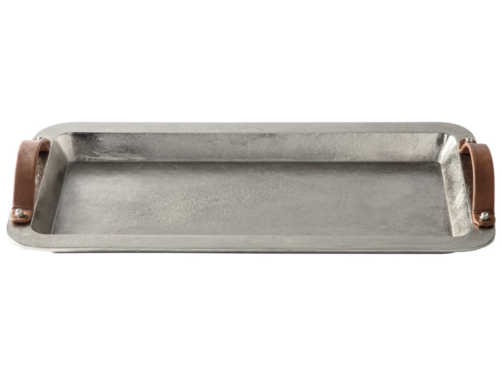 Vendor 3 AccentsJoelle Silver Finish Tray
