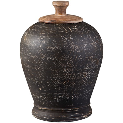 Signature Design by Ashley Accents Barric Antique Black Jar