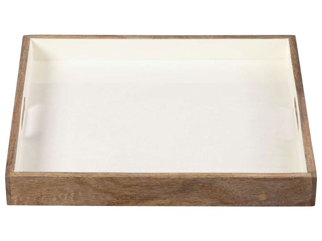 Signature Design by Ashley AccentsMoria Natural/White Tray