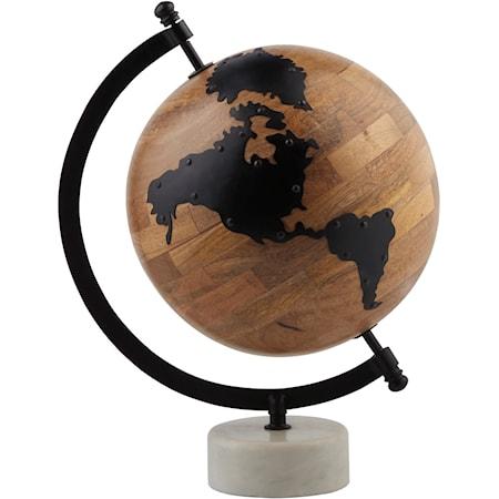 Alameda Natural/Black Globe Sculpture