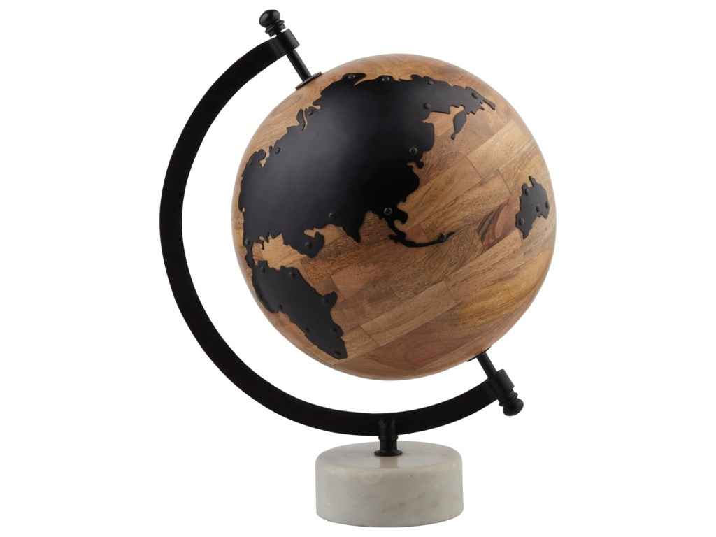 Signature Design by Ashley AccentsAlameda Natural/Black Globe Sculpture