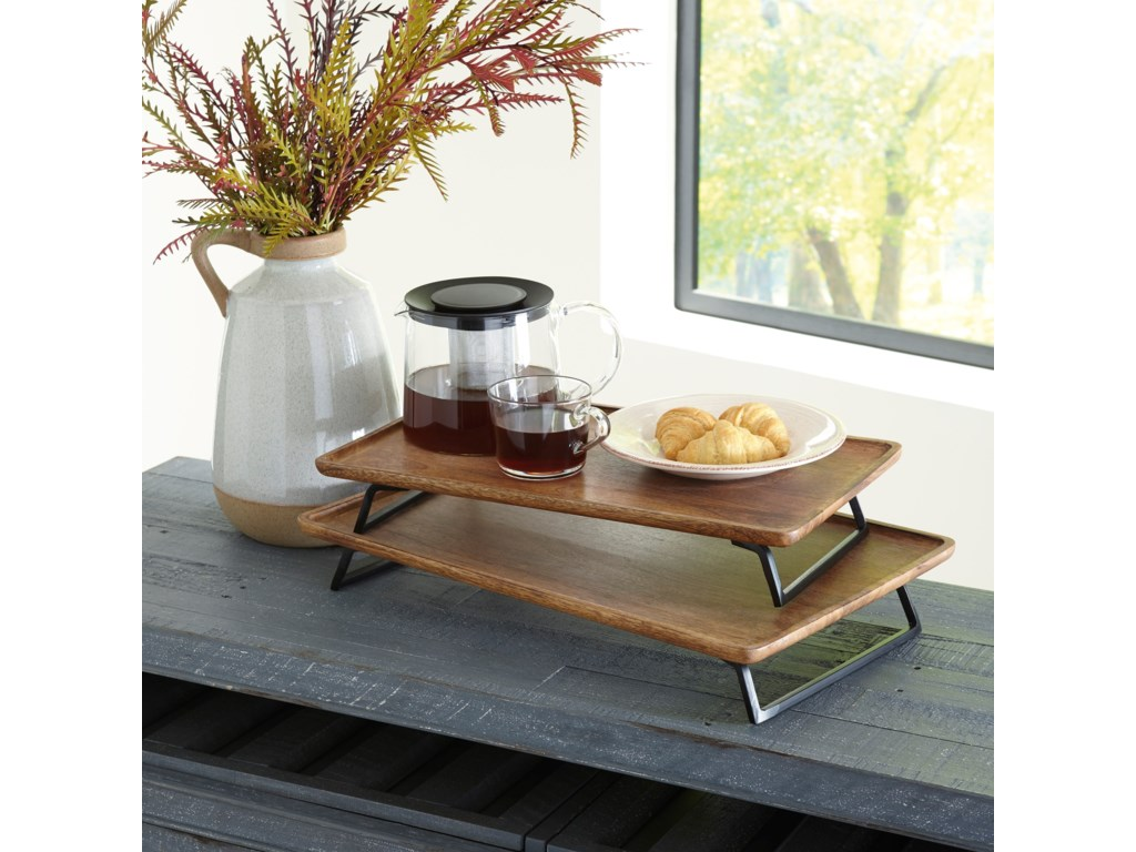 Signature Design by Ashley AccentsKaleena Brown/Black Tray Set