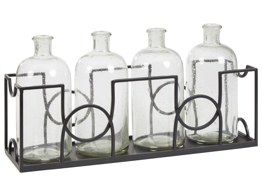 Signature Design by Ashley AccentsDmitri Clear/Black Accessory Set