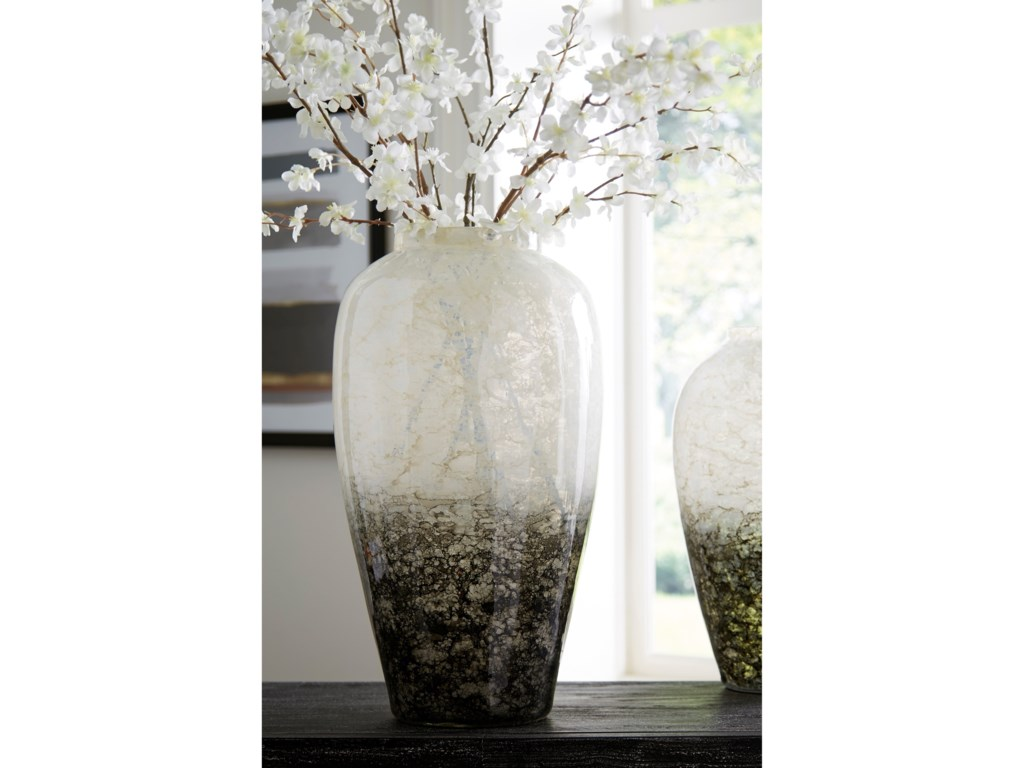 Signature Design by Ashley AccentsMirielle White/Gray Vase