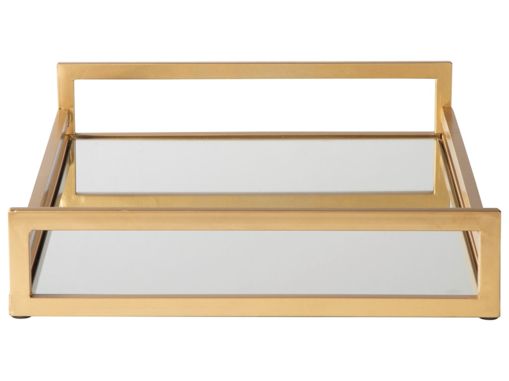 Signature Design by Ashley AccentsDerex Gold Finish Tray
