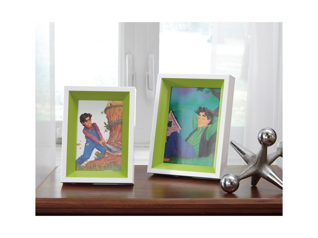 Signature Design by Ashley AccentsObie White/Green Photo Frame (Set of 2)