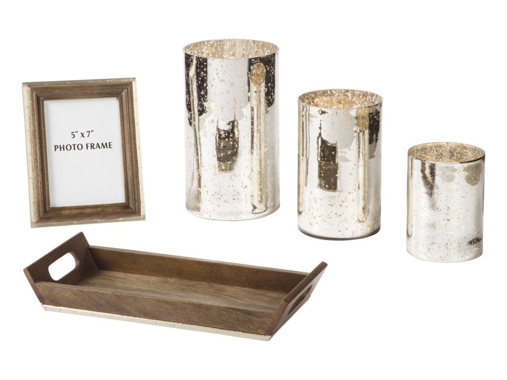 Signature Design by Ashley AccentsDexton Brown/Silver Finish Accessory Set