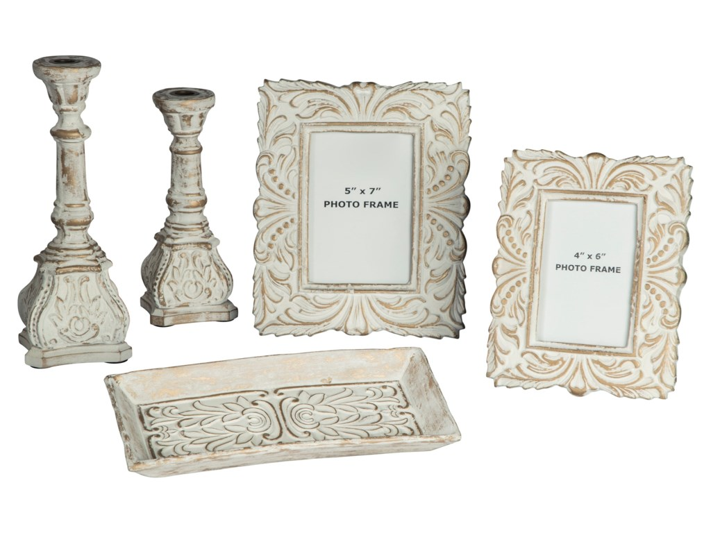 Trendz Accents5-Piece Dilys Antique White Accessory Set