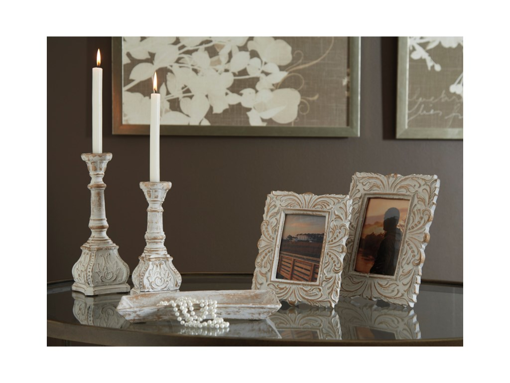 Signature Design by Ashley Accents5-Piece Dilys Antique White Accessory Set