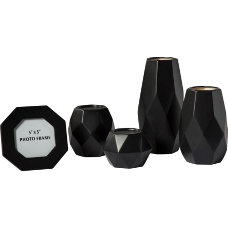 5-Piece Donatella Black Accessory Set