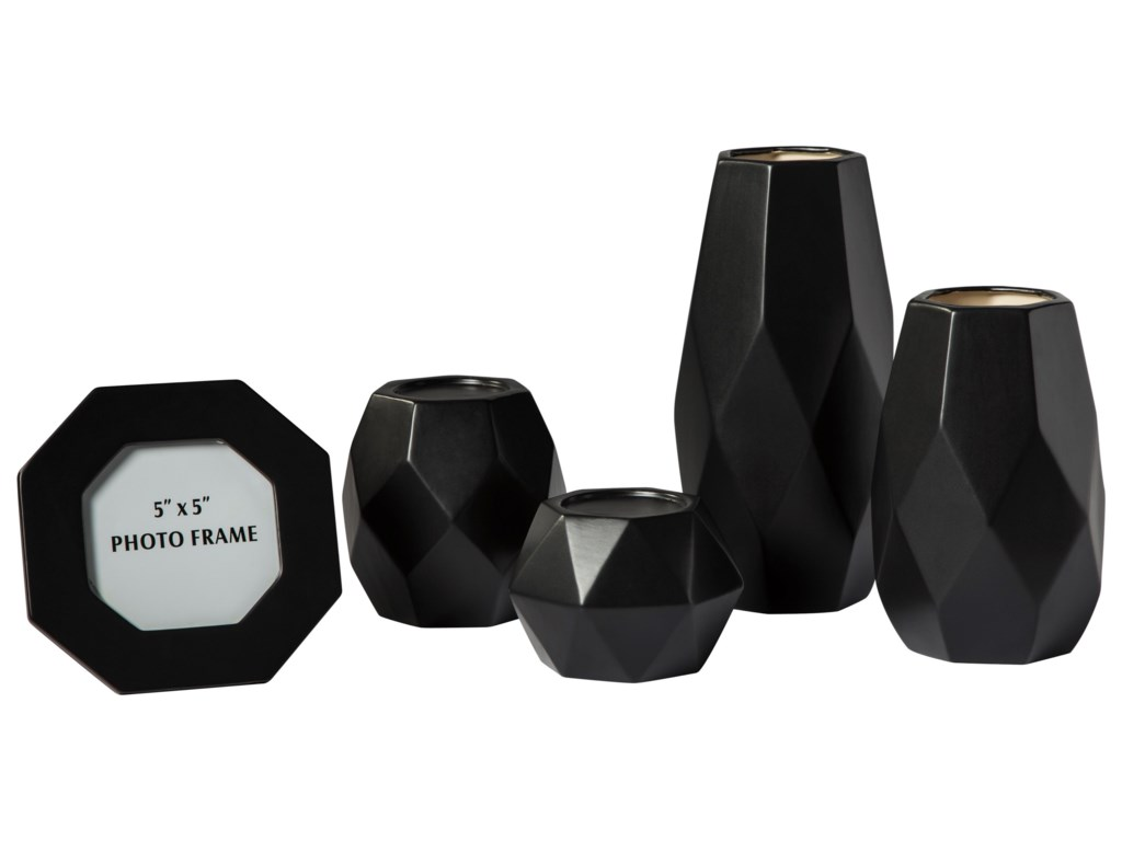 Signature Design by Ashley Accents5-Piece Donatella Black Accessory Set