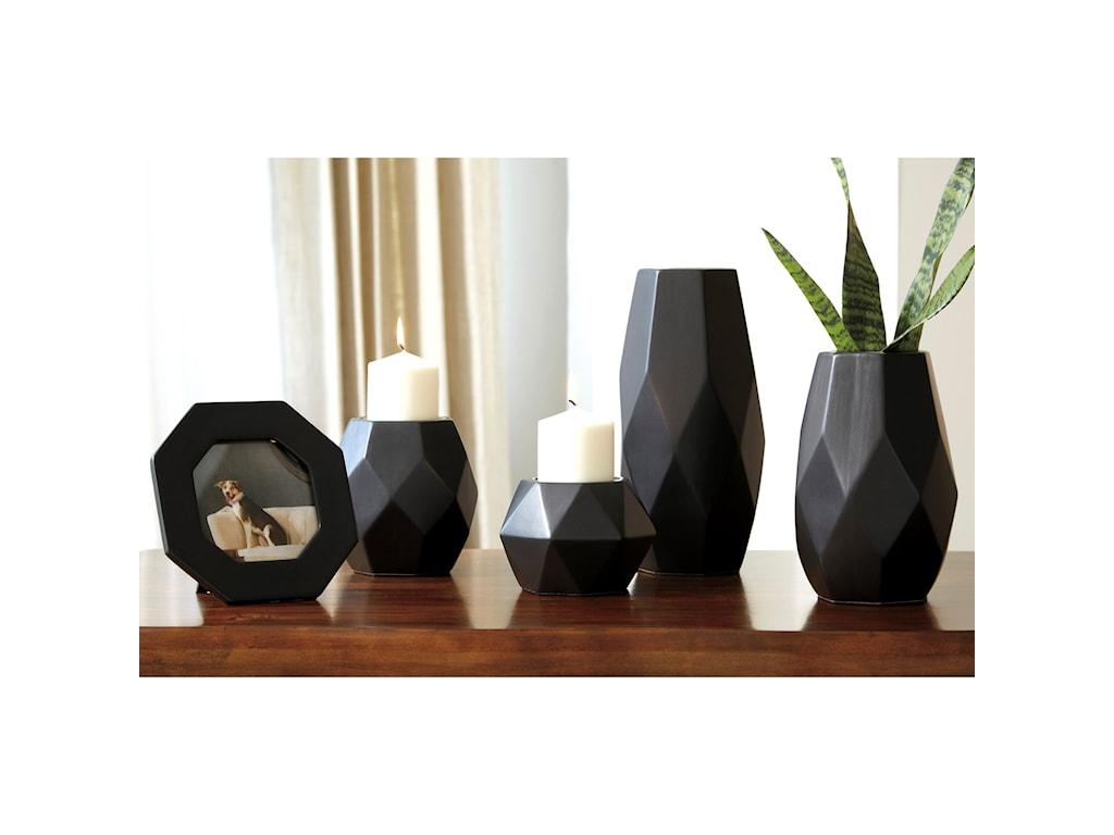 Signature Design by Ashley Accents5-Piece Donatella Black Accessory Set
