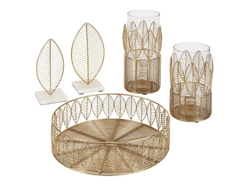 Signature Design by Ashley AccentsDimity Gold Finish Accessory Set