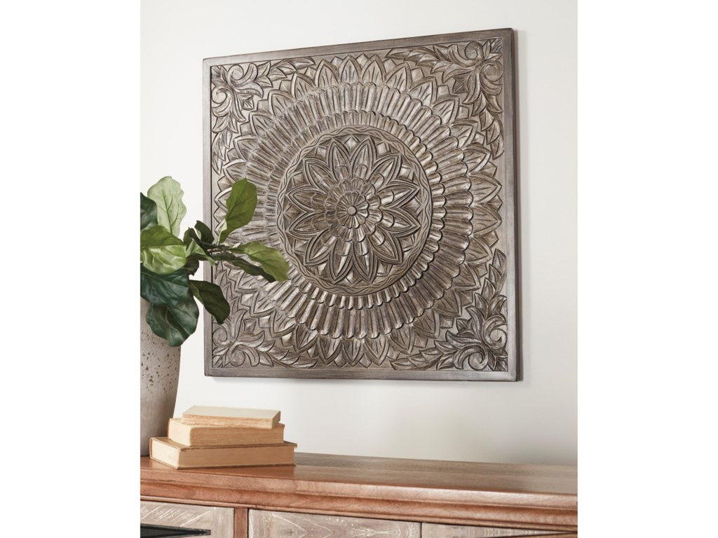Signature Design by Ashley Wall ArtBriony Antique Gray Wall Decor