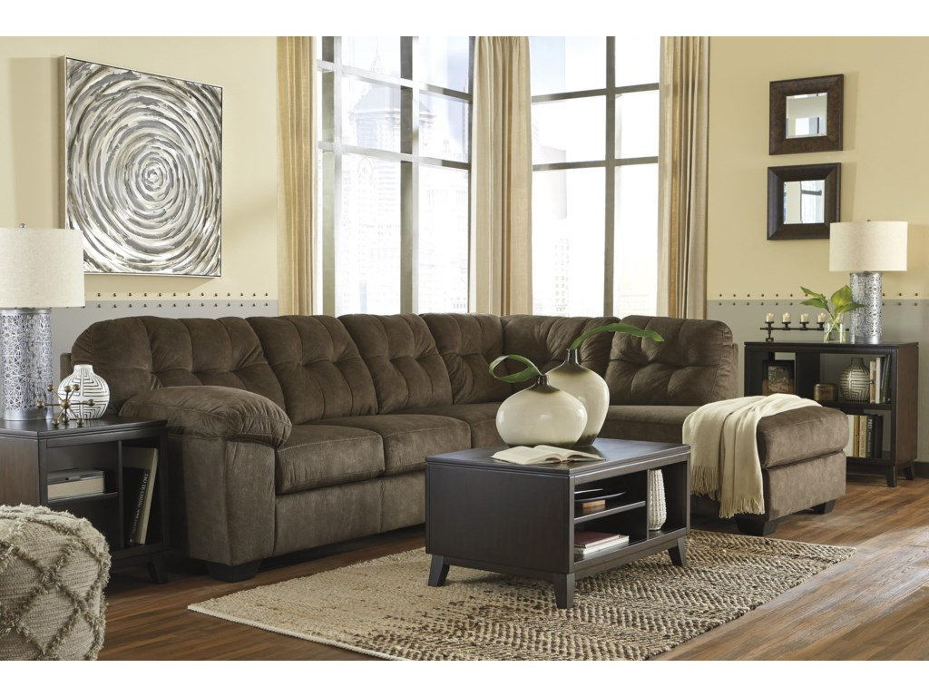 Signature Design by Ashley Accrington2 PC Sectional  and Recliner Set