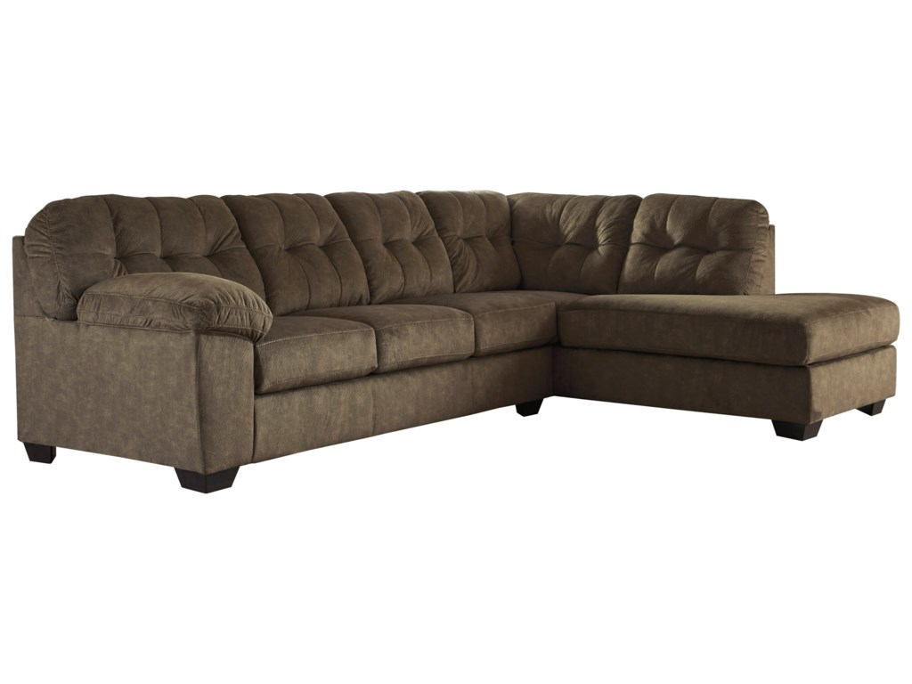 Ashley (Signature Design) AccringtonSectional with Right Chaise & Queen Sleeper
