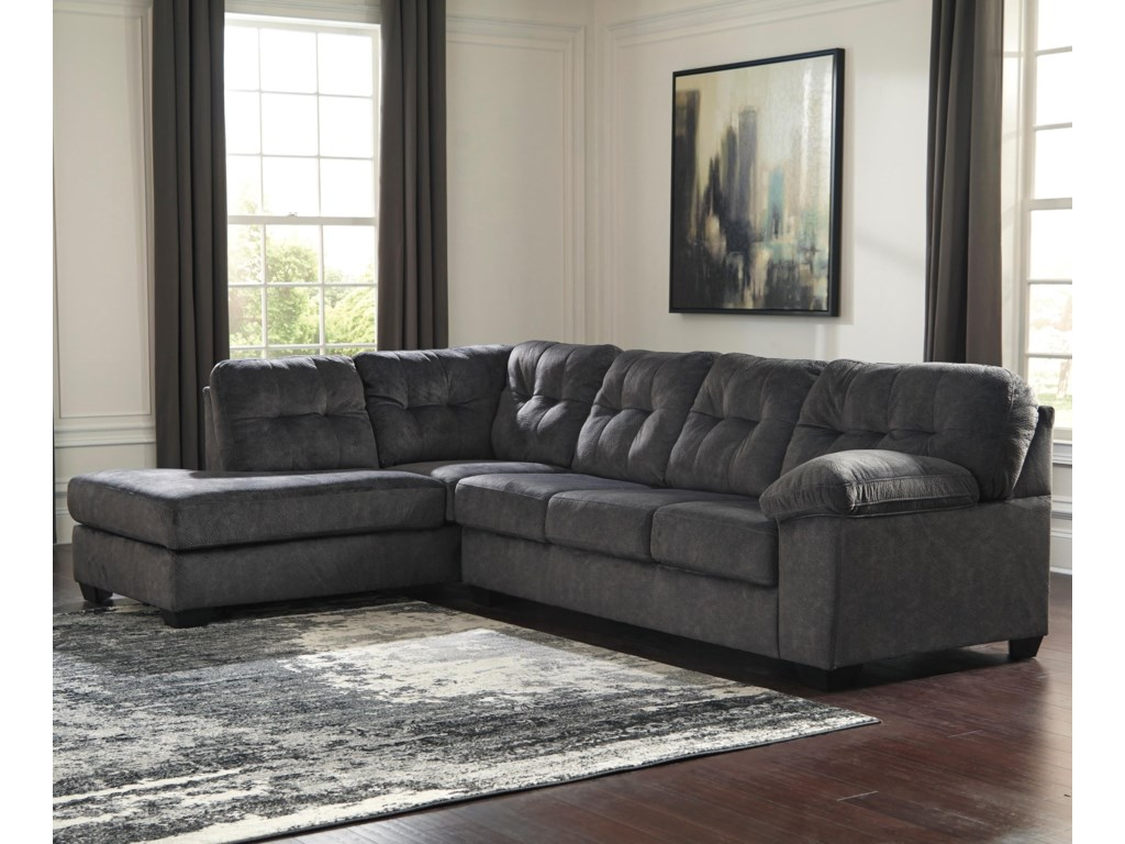 Ashley (Signature Design) AccringtonSectional with Left Chaise & Queen Sleeper