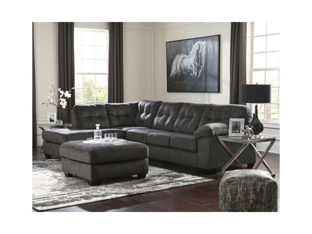 Signature Design AccringtonSectional with Left Chaise & Queen Sleeper