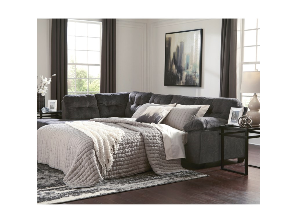 Ashley Signature Design AccringtonSectional with Left Chaise & Queen Sleeper