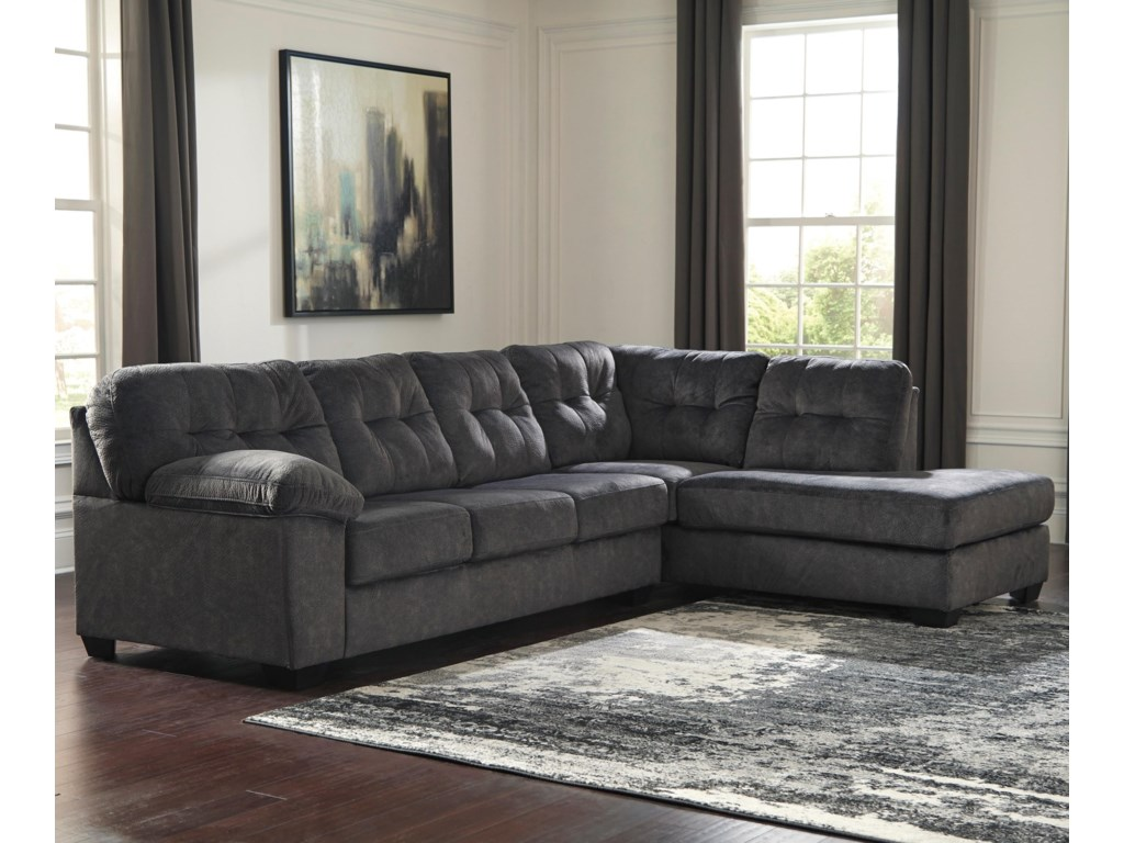 Signature Design by Ashley AccringtonSectional with Right Chaise & Queen Sleeper