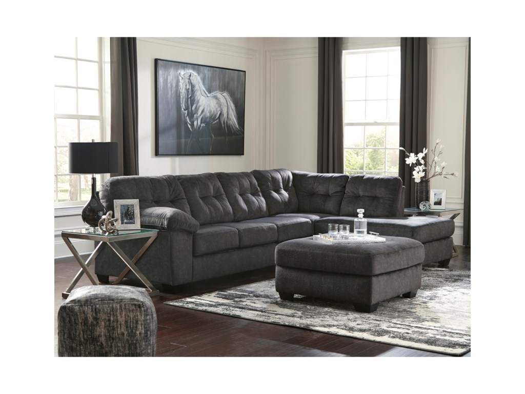 Vendor 3 AccringtonSectional with Right Chaise & Queen Sleeper