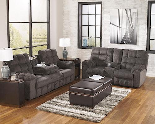 Signature Design by Ashley Acieona - Slate Reclining Living Room Group