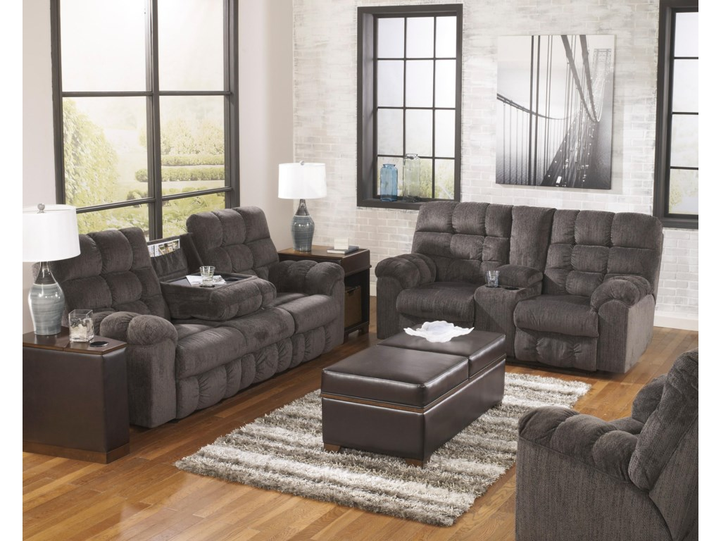 Ashley (Signature Design) Acieona - SlateReclining Living Room Group