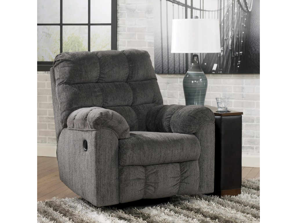 Ashley Signature Design Acieona - SlateSwivel Rocker Recliner