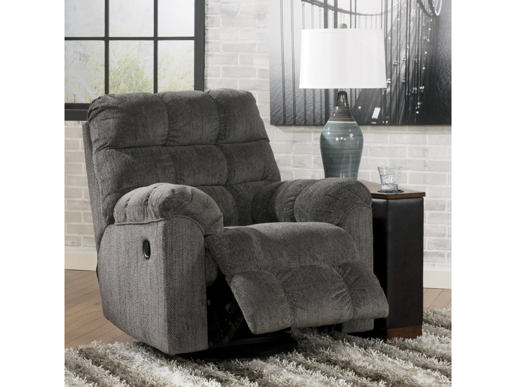 Signature Design Acieona - SlateSwivel Rocker Recliner