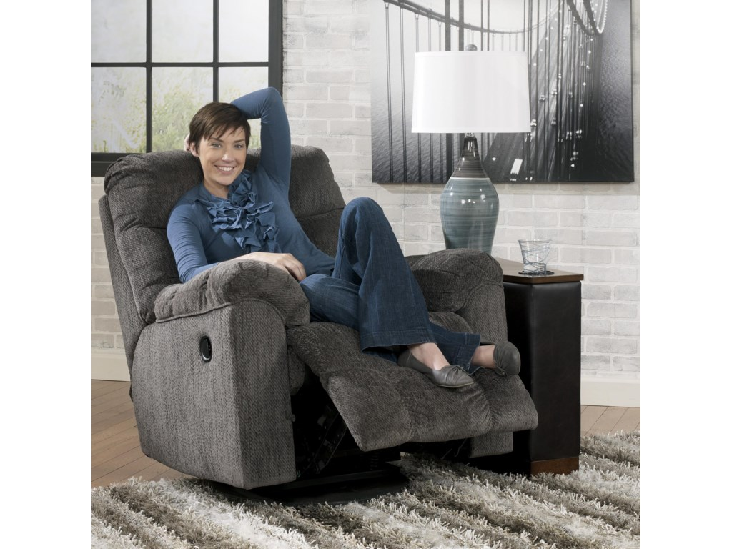 Ashley (Signature Design) Acieona - SlateSwivel Rocker Recliner